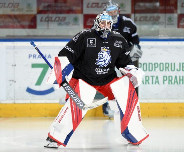 First practice of third Czech Ice Hockey Team camp in Prague, April 2021