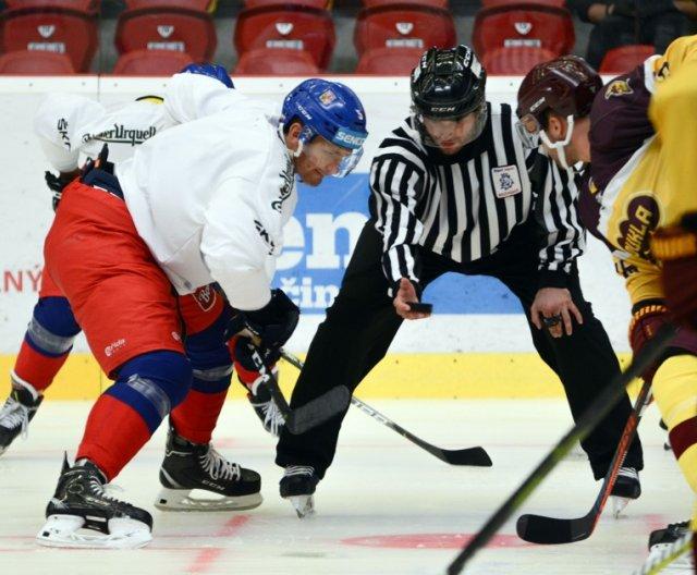 Czech Ice Hockey Team played friendly games against HC Dukla Jihlava