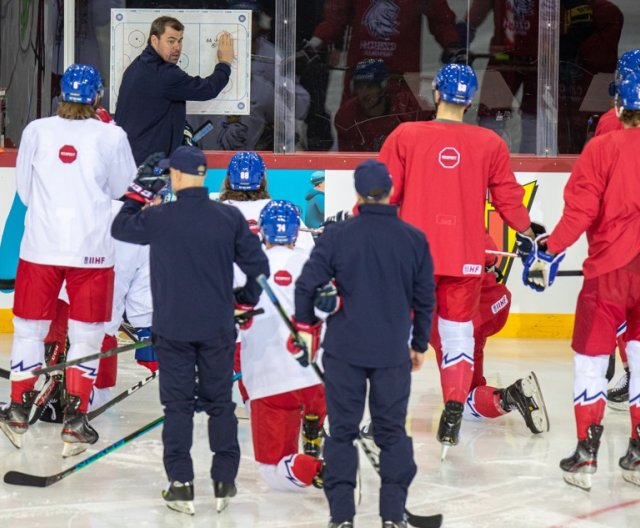 Third practice of Czech Ice Hockey Team in Riga