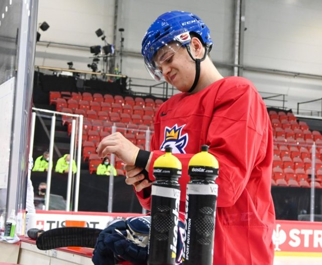 First practice of Czech Ice Hockey Team in Riga